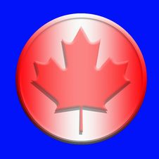 Canada Button Royalty Free Stock Photo