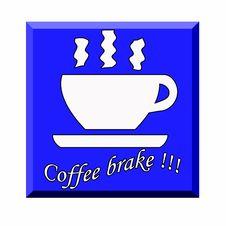 Free Coffe Brake Sign Stock Image - 4752031