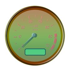 Free Golden Odometer Royalty Free Stock Photography - 4752067