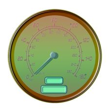 Free Golden Speedometer Stock Photography - 4752072
