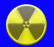 Caution Radiation Sign Stock Images