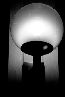 Free A Light Fixture That Is On In The Dark Royalty Free Stock Photography - 4752257