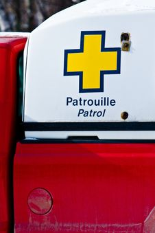 Free A Rescue Patrol Vehicle For A Ski Resort Stock Images - 4752364