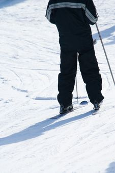 Free Close Up Of Someone Skiing Royalty Free Stock Image - 4752376