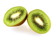 Free Two Slices Of Fresh Juicy Kiwi Fruit Stock Photos - 4752383