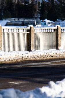 Free A Fence Along A Road Stock Image - 4752471