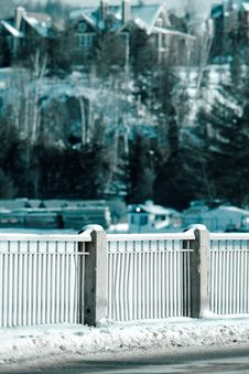 Free A Fence Along The Road Stock Image - 4752481