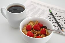 Free Coffee And Cereal Royalty Free Stock Image - 4752716
