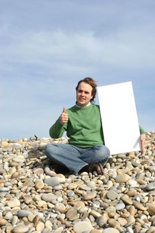 Free Young Man Holding White Card Stock Photography - 4752872