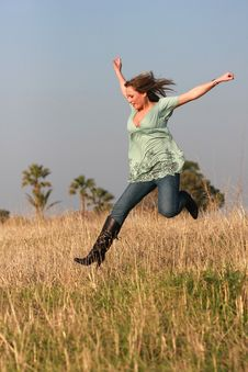 Free Jumping Girl Stock Photography - 4753002
