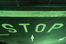 Stop On Parking Royalty Free Stock Photo