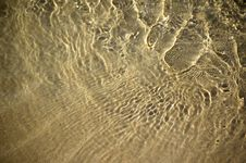 Background Of Water Over Sand Royalty Free Stock Images