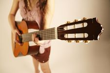 Free Girl Playing Guitar Stock Photo - 4753920