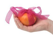 Free One Tasty Orange Royalty Free Stock Photos - 4754258