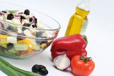 Multi-coloured Vegetables For Salad Stock Photo