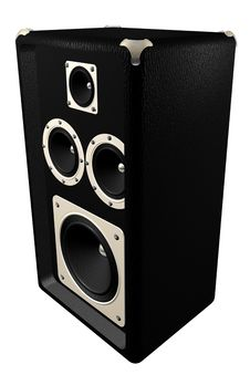 Free 3d Speaker On White Background Royalty Free Stock Photography - 4754697