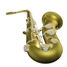 Free Saxophone  3d Illustration Royalty Free Stock Photos - 4754768
