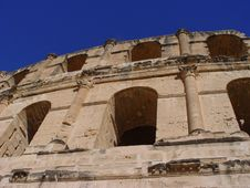 Coliseum El-Jem (Tunisia) Royalty Free Stock Images