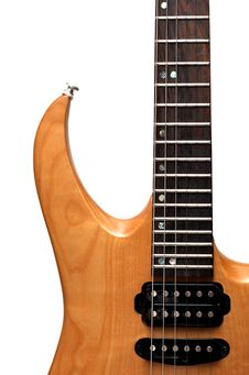Free Toned Maple Electric Guitar Closeup Royalty Free Stock Image - 4756166