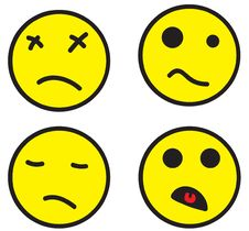 Four Smileys Royalty Free Stock Images