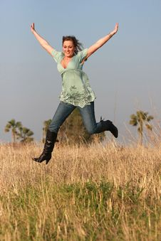 Free Jumping Girl Stock Photos - 4756443