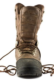 Free Hunting Boot Isolated On White Background Royalty Free Stock Image - 4756706