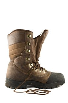Free Hunting Boot Isolated On White Background Royalty Free Stock Images - 4756709