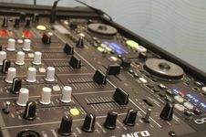 Free Mixer Board Royalty Free Stock Photography - 4756827