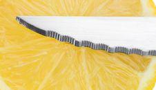 Free Knife With Lemon Stock Image - 4756861
