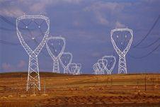 Poles Of Electricity Stock Photos