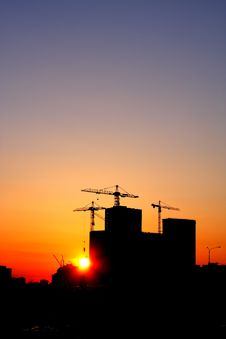 Free Industrial Sunset Stock Photography - 4757722