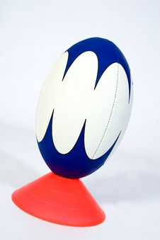 Isolated Rugby Ball Stock Images