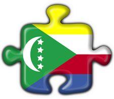 Comoros Button Flag Puzzle Shape Stock Photography