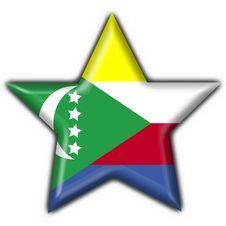 Comoros Button Flag Star Shape Stock Photos