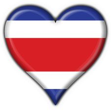 Free Costa Rica Button Flag Heart Shape Stock Images - 4758564