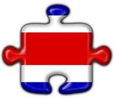 Free Costa Rica Button Flag Puzzle Shape Stock Photography - 4758572