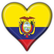 Free Ecuador Button Flag Heart Shape Royalty Free Stock Photo - 4758715