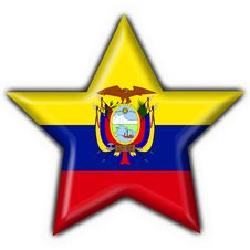 Ecuador Button Flag Star Shape Stock Photos