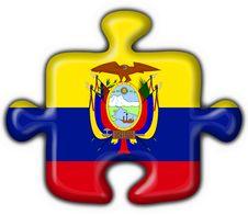Ecuador Button Flag Puzzle Shape Royalty Free Stock Photo