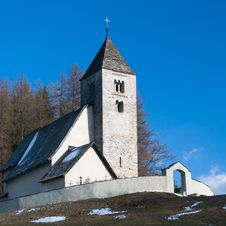 Alpine Village Church Stock Photos