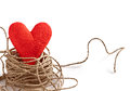 Free Love Heart Nest, Valentines Day. Greeting Card Royalty Free Stock Images - 47552909