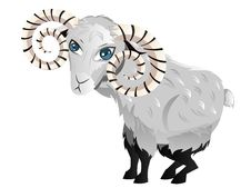 Free Cartoon Ram Stock Image - 47576301