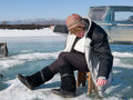 Free Winter Fishing Royalty Free Stock Photography - 4766497