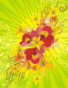 Free Lightray Floral Background Royalty Free Stock Photo - 4760465