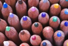 Full Frame View Of Coloured Pencils Royalty Free Stock Photography