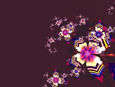 Free Abstract Fractal Flower Dark Background Stock Photos - 4760963