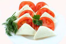 Free Tomato And Slice Stock Image - 4762241