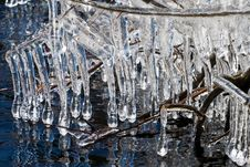 Free Icicles On A Lake Royalty Free Stock Photos - 4762758