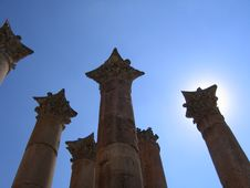 Free Columns In The Sun Royalty Free Stock Images - 4762839