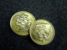 Golden Coins Knights Royalty Free Stock Photography